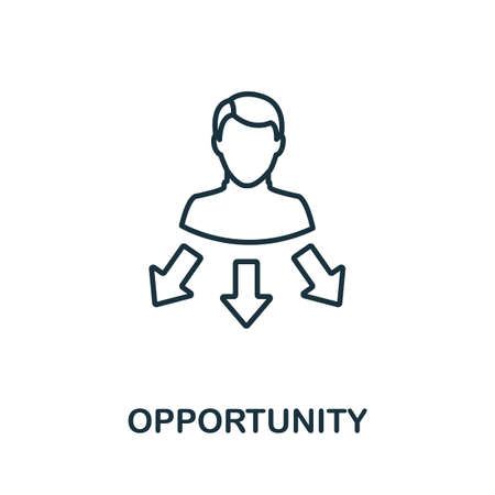 Opportunity outline icon. Thin line concept element from crm icons collection. Creative Opportunity icon for mobile apps and web usage.