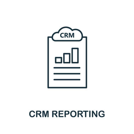 Crm Reporting outline icon. Thin line concept element from crm icons collection. Creative Crm Reporting icon for mobile apps and web usage.