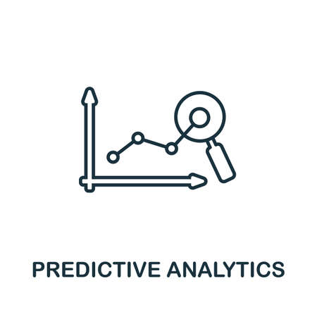 Predictive Analytics outline icon. Thin line concept element from crm icons collection. Creative Predictive Analytics icon for mobile apps and web usage. Illustration