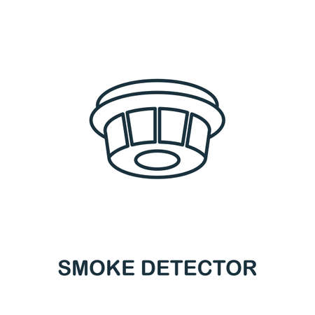 Smoke Detector outline icon. Thin line concept element from fire safety icons collection. Creative Smoke Detector icon for mobile apps and web usage.