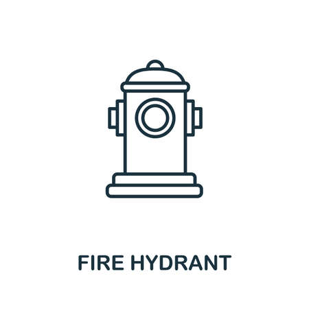 Fire Hydrant outline icon. Thin line concept element from fire safety icons collection. Creative Fire Hydrant icon for mobile apps and web usage.
