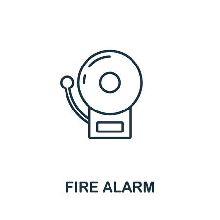 Fire Alarm outline icon. Thin line concept element from fire safety icons collection. Creative Fire Alarm icon for mobile apps and web usage.