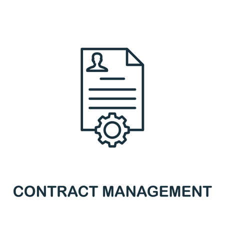 Contract Management outline icon. Thin line concept element from crm icons collection. Creative Contract Management icon for mobile apps and web usage.