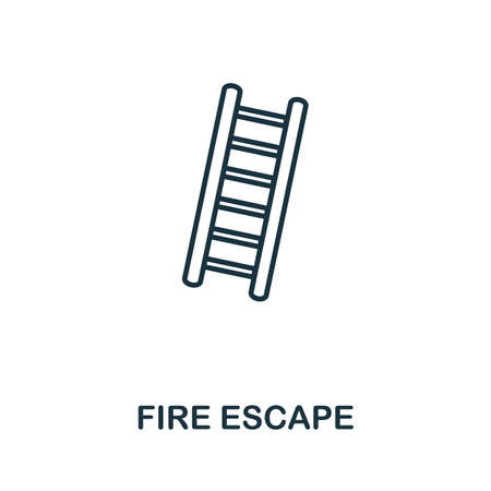 Fire Escape outline icon. Thin line concept element from fire safety icons collection. Creative Fire Escape icon for mobile apps and web usage.