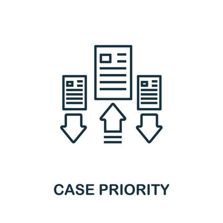 Case Priority outline icon. Thin line concept element from customer service icons collection. Creative Case Priority icon for mobile apps and web usage.