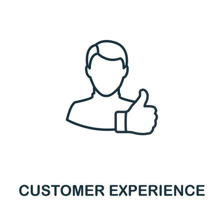 Customer Experience outline icon. Thin line concept element from customer service icons collection. Creative Customer Experience icon for mobile apps and web usage.