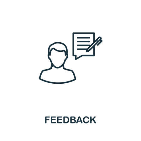 Feedback outline icon. Thin line concept element from customer service icons collection. Creative Feedback icon for mobile apps and web usage.