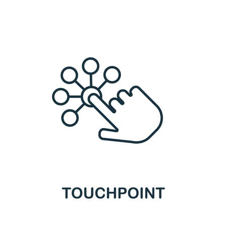 Touchpoint outline icon. Thin line concept element from customer service icons collection. Creative Touchpoint icon for mobile apps and web usage. Banque d'images - 130071249