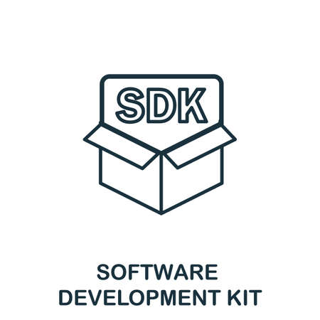 Software Development Kit outline icon. Thin line concept element from customer service icons collection. Creative Software Development Kit icon for mobile apps and web usage.