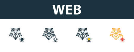 Web icon set. Premium simple element in different styles from halloween icons collection. Set of web icon in filled, outline, colored and flat symbols concept.