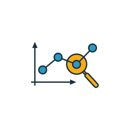 Marketing Monitoring icon. Outline filled creative elemet from advertising icons collection. Premium marketing monitoring icon for ui, ux, apps, software and infographics.