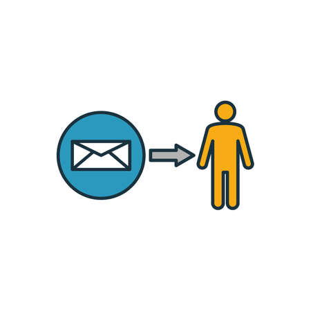 Direct Message icon. Outline filled creative elemet from advertising icons collection. Premium direct message icon for ui, ux, apps, software and infographics.