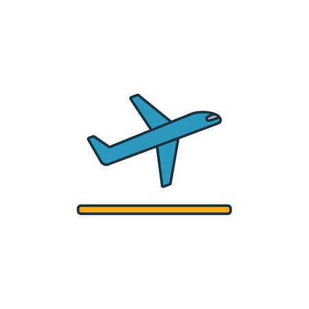Takeoff icon. Outline filled creative elemet from airport icons collection. Premium takeoff icon for ui, ux, apps, software and infographics.