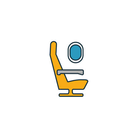 Airplane Seat icon. Outline filled creative elemet from airport icons collection. Premium airplane seat icon for ui, ux, apps, software and infographics.