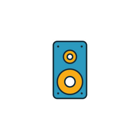 Speaker icon. Outline filled creative elemet from audio buttons icons collection. Premium speaker icon for ui, ux, apps, software and infographics.
