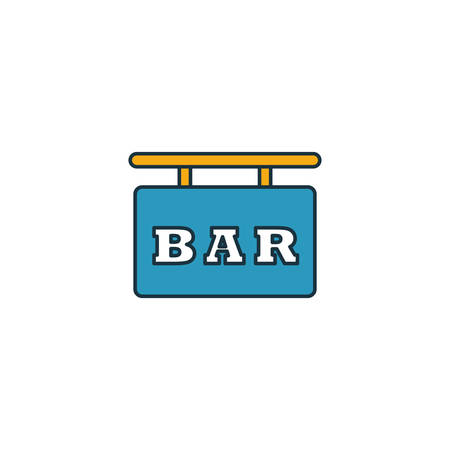 Bar Sign icon. Outline filled creative elemet from bar and restaurant icons collection. Premium bar sign icon for ui, ux, apps, software and infographics.