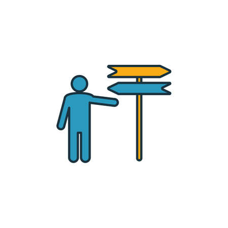 Decision icon. Outline filled creative elemet from business ethics icons collection. Premium decision icon for ui, ux, apps, software and infographics.