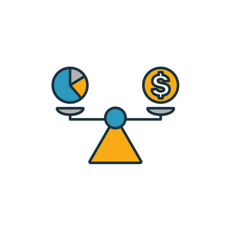 Budget Balance icon. Outline filled creative elemet from business management icons collection. Premium budget balance icon for ui, ux, apps, software and infographics. Stock Illustratie