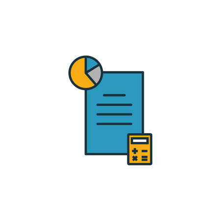 Budget Accounting icon. Outline filled creative elemet from business management icons collection. Premium budget accounting icon for ui, ux, apps, software and infographics.