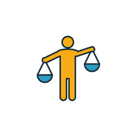 Solicitor icon. Outline filled creative elemet from business management icons collection. Premium solicitor icon for ui, ux, apps, software and infographics. Illusztráció