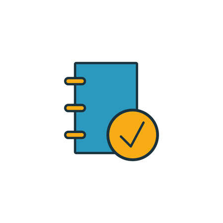 Corporate Policies icon. Outline filled creative elemet from business ethics icons collection. Premium corporate policies icon for ui, ux, apps, software and infographics. Ilustração