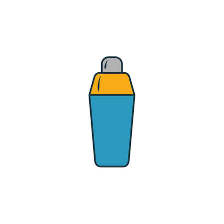 Shaker icon. Outline filled creative elemet from bar and restaurant icons collection. Premium shaker icon for ui, ux, apps, software and infographics.