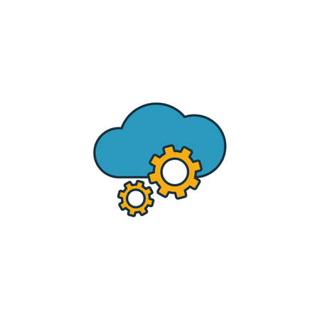 Cloud Management icon. Outline filled creative elemet from big data icons collection. Premium cloud management icon for ui, ux, apps, software and infographics.