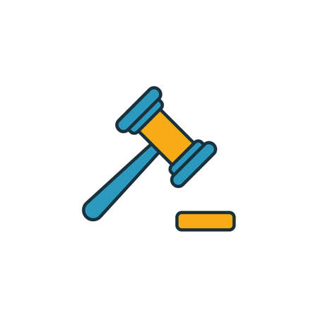 Magistrate icon. Outline filled creative elemet from business icons collection. Premium magistrate icon for ui, ux, apps, software and infographics. Illustration