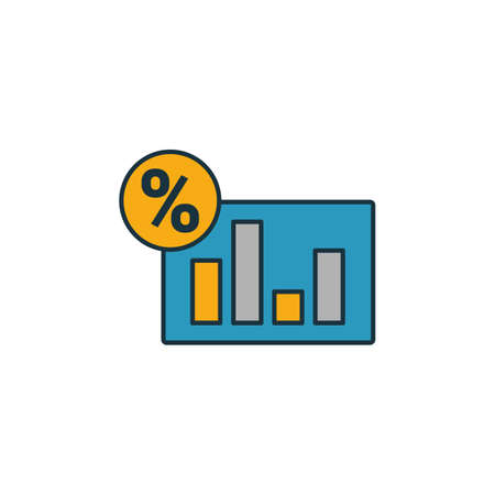 Analytics icon. Outline filled creative elemet from business icons collection. Premium analytics icon for ui, ux, apps, software and infographics.