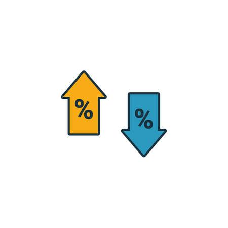 Percent icon. Outline filled creative elemet from business icons collection. Premium percent icon for ui, ux, apps, software and infographics. Stock Illustratie