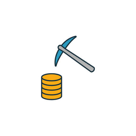 Data Mining icon. Outline filled creative elemet from big data icons collection. Premium data mining icon for ui, ux, apps, software and infographics. Ilustração