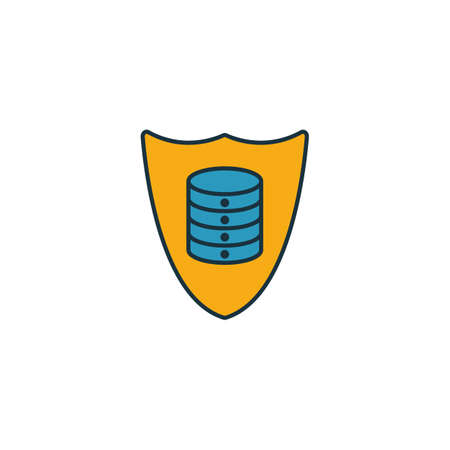 Secured Backup icon. Outline filled creative elemet from big data icons collection. Premium secured backup icon for ui, ux, apps, software and infographics.
