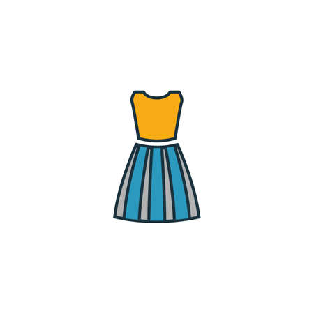 Dress Female icon. Pixel perfect element. Premium Dress Female icon design from clothes collection. For web, mobile, software, print. Иллюстрация