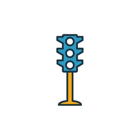 Traffic Light outline icon. Thin style design from city elements icons collection. Pixel perfect symbol of traffic light icon. Web design, apps, software, print usage. Illusztráció