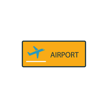 Airport outline icon. Thin style design from city elements icons collection. Pixel perfect symbol of airport icon. Web design, apps, software, print usage.