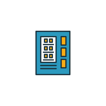 Vending Machine outline icon. Thin style design from city elements icons collection. Pixel perfect symbol of vending machine icon. Web design, apps, software, print usage. Illusztráció