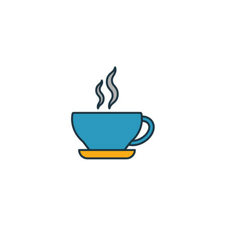 Cappuccino icon. Thin line symbol design from coffe shop icon collection. UI and UX. Creative simple cappuccino icon for web and mobile.
