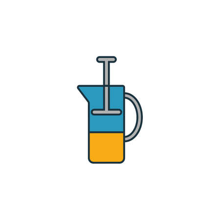 French Press icon. Thin line symbol design from coffe shop icon collection. UI and UX. Creative simple french press icon for web and mobile.