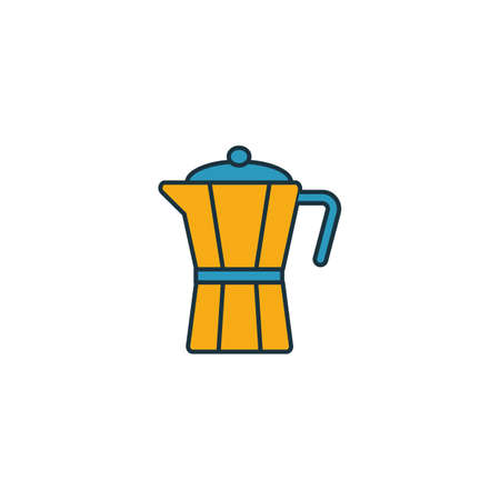Moka Pot icon. Thin line symbol design from coffe shop icon collection. UI and UX. Creative simple moka pot icon for web and mobile.