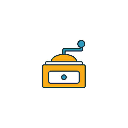 Coffee Grinder icon. Thin line symbol design from coffe shop icon collection. UI and UX. Creative simple coffee grinder icon for web and mobile.