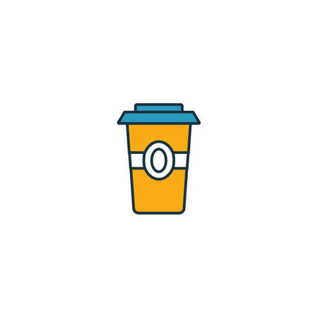 Coffee To Go icon. Thin line symbol design from coffe shop icon collection. UI and UX. Creative simple coffee to go icon for web and mobile.  イラスト・ベクター素材