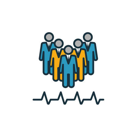 Community Health icon set. Four elements in diferent styles from icons collection. Creative community health icons filled, outline, colored and flat symbols. Ilustrace