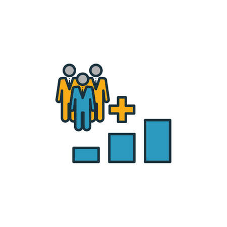Population Growth icon set. Four elements in diferent styles from icons collection. Creative population growth icons filled, outline, colored and flat symbols.