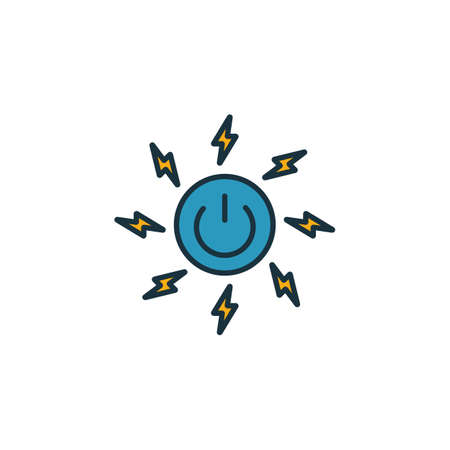 Energy icon set. Four elements in diferent styles from community icons collection. Creative energy icons filled, outline, colored and flat symbols.