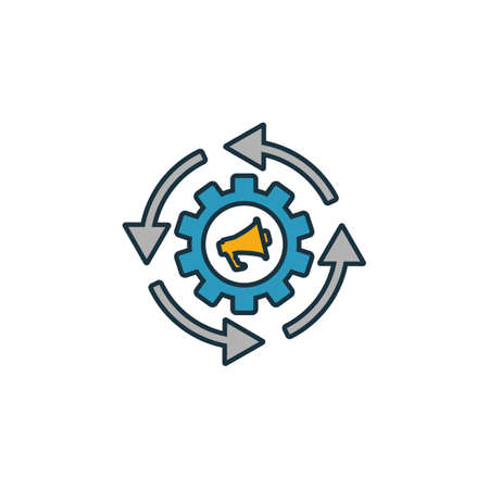 Marketing Automation icon set. Four elements in diferent styles from content icons collection. Creative marketing automation icons filled, outline, colored and flat symbols. Stock fotó - 131661502