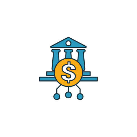 Online Banking icon set. Four elements in diferent styles from fintech icons collection. Creative online banking icons filled, outline, colored and flat symbols.
