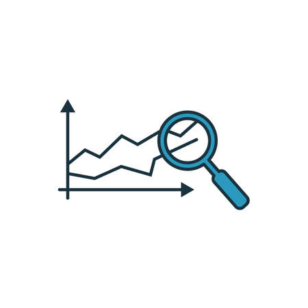 Predictive Analytics icon set. Four elements in diferent styles from industry 4.0 icons collection. Creative predictive analytics icons filled, outline, colored and flat symbols.