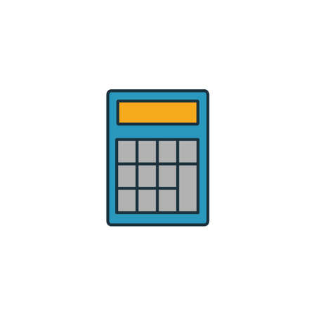 Calculator icon set. Colored creative element from money icons collection. Creative calculator icon for web and mobile design.