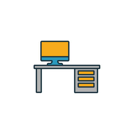Workplace icon. Simple element from project management icons collection. Creative Workplace icon ui, ux, apps, software and infographics. Zdjęcie Seryjne - 132538031