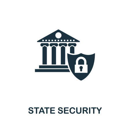 State Security icon vector illustration. Creative sign from gdpr icons collection. Filled flat State Security icon for computer and mobile. Symbol,   vector graphics. Illustration